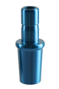 Aluminium silicone hose connector for Kaya ELOX CUT 18.8 blue