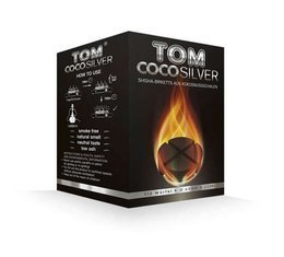 Coconut Shisha charcoal Tom Cococha Silver 4 Blocks 1kg