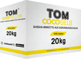 Coconut Shisha charcoal Tom Cococha Yellow 20kg