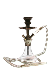 Hookah El Keyif AC330 Clear Dark Chrome 32cm