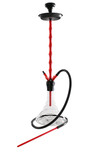 Hookah Kaya ELOX635CE Clear Red-Black XL 4S 98cm