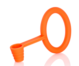 Hose gasket and holder silicone KS Tongo orange