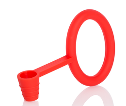 Hose gasket and holder silicone KS Tongo red