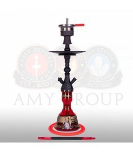 Water pipe AMY Mini Harfi Black Red 48,5cm