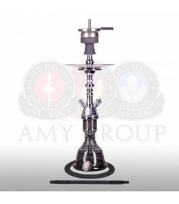 Water pipe AMY Mini Mutina Silver Black 48,5cm