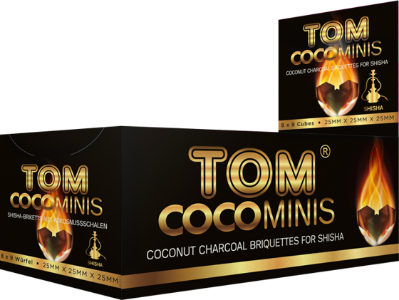 Coconut Shisha charcoal Tom Cococha Gold Mini