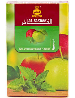 Shisha tobacco AL FAKHER 50g no. 37 L19 (Two Apples with Mint)